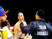 """Thể thao - Boxing: Cháu bị chơi bẩn, chú lên đài """"cân tất"""""""