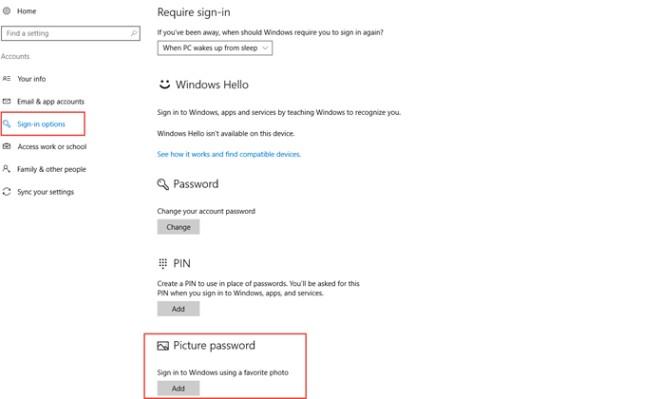 Cách thi?t l?p m?t kh?u b?ng hình ?nh cho Windows 10 - 2