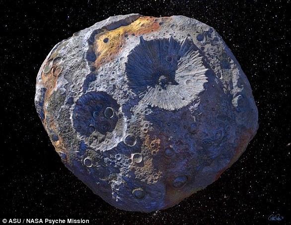 Thiên thạch khổng lồ chứa khối lượng kim loại quý cực lớn.