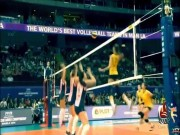 """Thể thao - Bóng chuyền: Người đẹp đập """"tên lửa"""", đối thủ nổ đom đóm"""