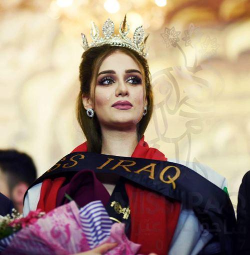 """Hoa hậu Iraq vượt qua """"bão tố"""", đăng quang trong nước mắt - 5"""