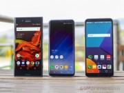 Tam tấu Galaxy S8, LG G6 và Sony Xperia XZ Premium đọ sức