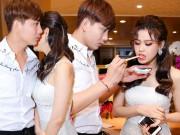 Tim, Trương Quỳnh Anh tình tứ chăm sóc cho nhau trước trăm ánh mắt
