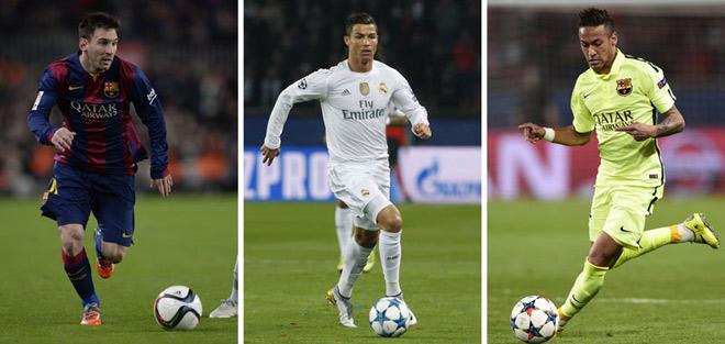 """Cầu thủ hay nhất Liga: Neymar trên Messi, Ronaldo """"mất hút"""""""