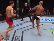 """UFC: Dính đòn hiểm, võ sĩ  """" khiêu vũ """"  ăn thêm mưa đấm"""