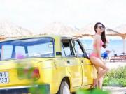 Ảnh người đẹp và xe - Nhã Phương khoe body gợi cảm bên 'xế cổ' Lada 1600