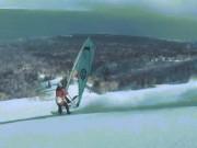 Du lịch - Tròn mắt xem chàng trai liều lĩnh lướt ván buồm trên núi tuyết cao