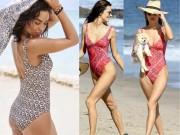 """Thời trang - Kiều nữ triệu USD mặc áo tắm """"tấn công"""" bờ biển đầy nắng"""