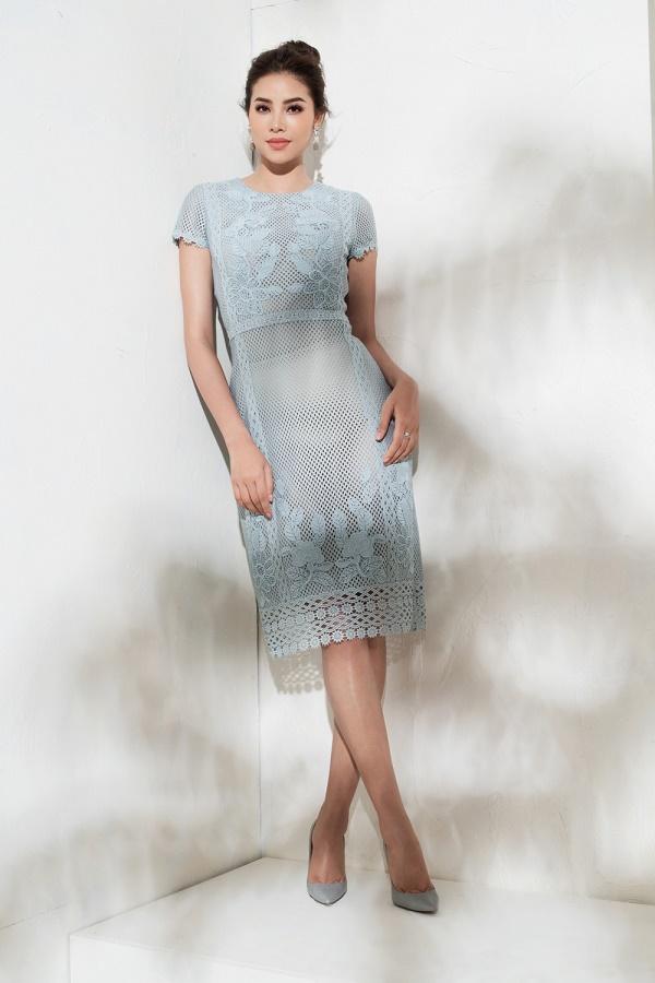 Sau bikini, Phạm Hương chào hè bằng loạt váy nhìn thấu