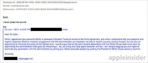 Tim Cook khẳng định không tham gia hội đồng tư vấn cho Tổng thống Trump - 1