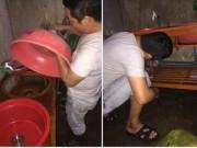 Bạn trẻ - Cuộc sống - Chồng tự chế bồn rửa bát để vợ đỡ đau lưng gây sốt