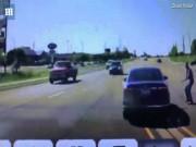 Phi thường - kỳ quặc - Nhảy vào ô tô đang đi để cứu người như phim hành động