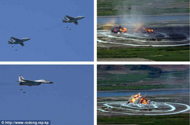 Không quân Triều Tiên rầm rộ tập bắn phá tàu sân bay - 7
