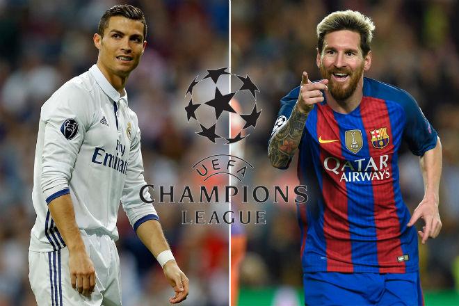 """Siêu sao 4 lần vô địch cúp C1: Ronaldo """"trên cơ"""" Messi"""