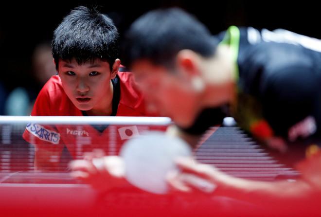 """Bóng bàn: Học sinh lớp 7 """"hành hạ"""" quái kiệt Trung Quốc - 1"""