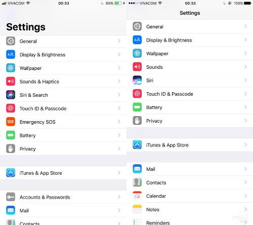 So sánh trực quan hệ điều hành iOS 11 và iOS 10 - 6