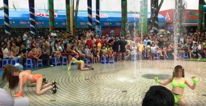"""""""Nhức mắt"""" xem nhóm cô gái mặc bikini nhảy uốn éo ở Sài Gòn"""