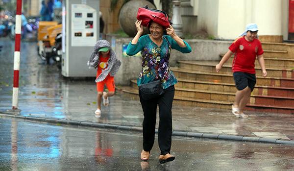 """Ảnh: Người Hà Nội sung sướng đi dưới """"mưa vàng"""" - 13"""