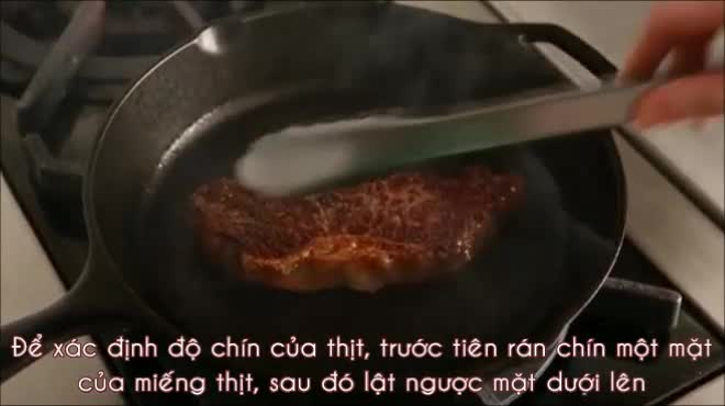 Kiểm tra độ chín của thịt cực chuẩn chỉ bằng bàn tay