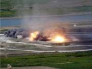 Thế giới - Không quân Triều Tiên rầm rộ tập bắn phá tàu sân bay