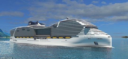 """Thiết kế độc của du thuyền """"hiện đại nhất thế giới"""" - 1"""
