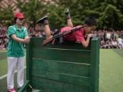 Quân sự - Ảnh: Trẻ em Triều Tiên tập bắn súng AK, ném lựu đạn giả