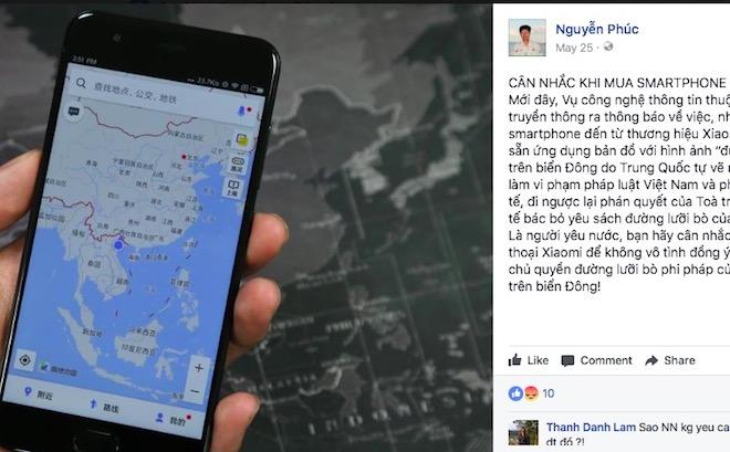 """Kết quả thanh tra smartphone Xiaomi tại VN về """"đường lưỡi bò"""" - 1"""