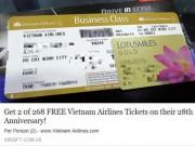 Tin tức trong ngày - Rộ mánh lừa đảo tặng vé máy bay