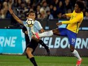Brazil - Argentina: 4 pha chạm cột và 1 bàn thắng
