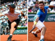 "Murray - Wawrinka: 5 set, 2 loạt tie-break  "" vỡ tim ""  (BK Roland Garros)"