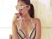 """Thời trang - Kiều nữ 9X, CEO trẻ nhất nhì VN diện bikini trễ nải khoe eo """"con kiến"""""""