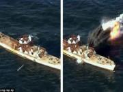 Thế giới - Triều Tiên tung ảnh tên lửa diệt hạm xuyên thủng tàu chiến