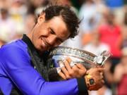 Vô địch Roland Garros: Nadal gặt  tá  kỉ lục, lên số 2 thế giới