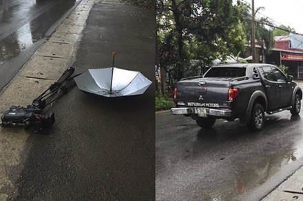 Khởi tố vụ phóng viên VTV bị phá hỏng máy quay khi tác nghiệp - 1