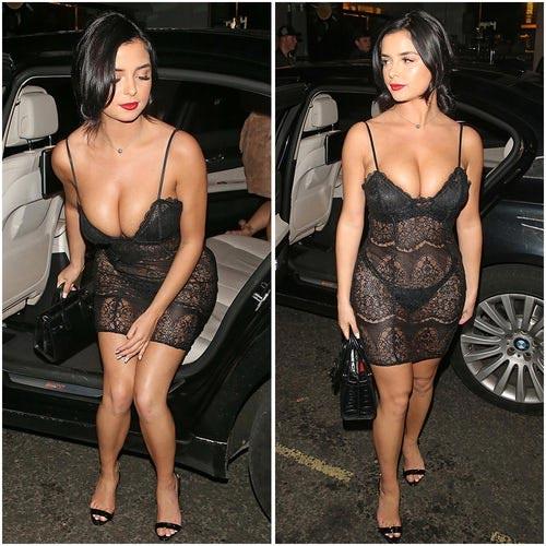 Thót tim vì váy như sắp đứt dây vì vòng 1 nặng trĩu của Demi Rose - 6
