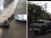An ninh Xã hội - Phóng viên VTV bị ô tô đâm, nghiền nát máy quay tiền tỷ