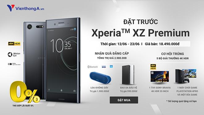 Đặt trước Xperia XZ  Premium để nhận ngay quà khủng tại Viễn Thông A - 1