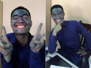 Nam sinh trường Mỏ mang khuôn mặt  xanh lét  đi bảo vệ tốt nghiệp