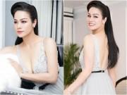 """Nhật Kim Anh khoe dáng nuột nà với váy  """" trống trước hở sau """""""