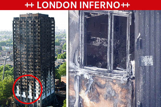 Hình ảnh ghê sợ bên trong chung cư London bị lửa thiêu - 4