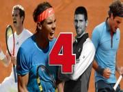 """Thể thao - Wimbledon: """"Tứ đại danh bổ"""" Federer - Nadal - Djokovic - Murray sống mái"""