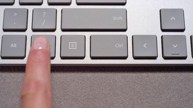 Bàn phím rời đầu tiên trên thế giới có nút cảm biển dấu vân tay - ảnh 1