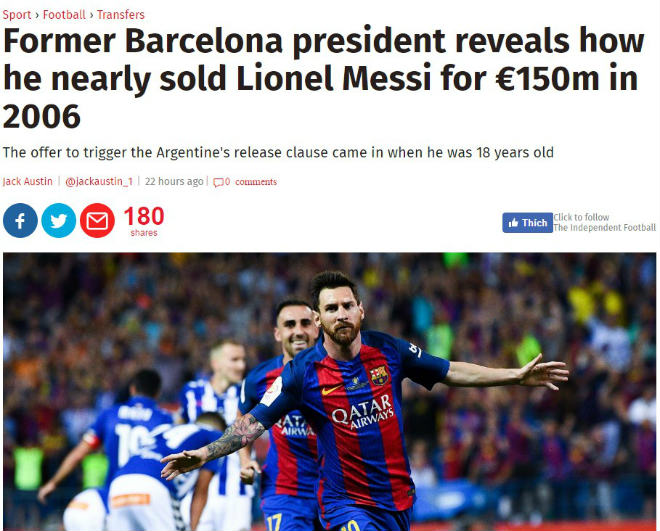 Điên rồ: Messi bỏ Barca, đấu Ronaldo ở derby Manchester - 1