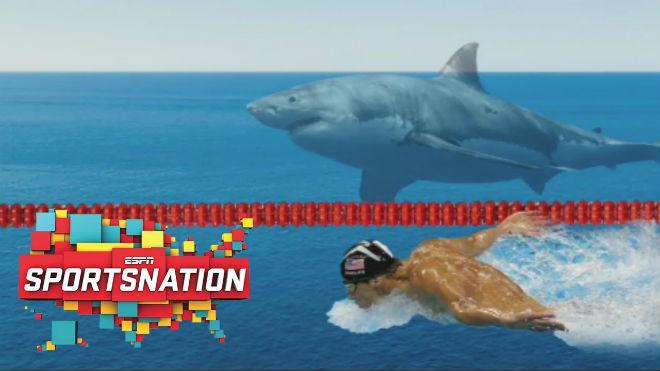 """Michael Phelps đối đầu cá mập trắng bên đường đua """"chết chóc"""" - 2"""