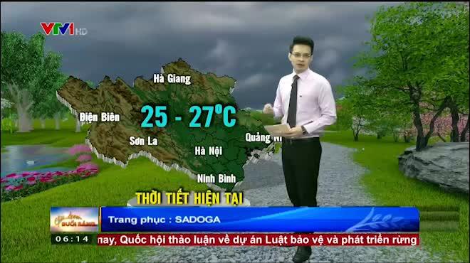 Dự báo thời tiết VTV 19/6: Bắc Bộ mát mẻ, Nam Bộ nắng dịu