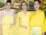 Thời trang - Hoa hậu Kỳ Duyên vàng chói mắt, đọ sắc Mỹ Linh, Diễm My