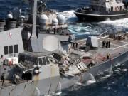 Giây phút hoảng loạn khi chiến hạm Mỹ đâm tàu hàng