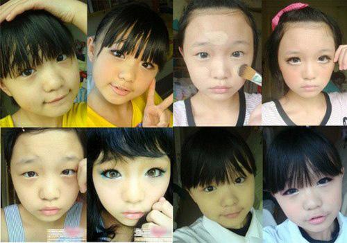 Giật mình trước những clip trang điểm của trẻ em Trung Quốc - 3