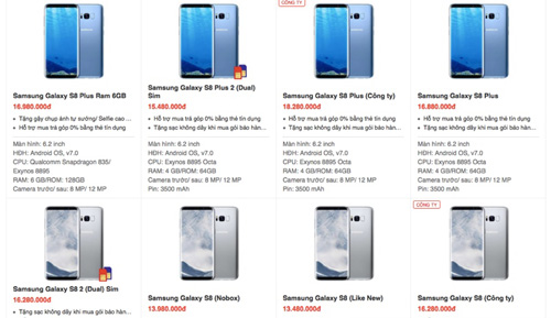 Samsung Galaxy S8 bán dưới giá, loạn giá - 3
