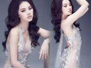 """Hoa hậu Việt sở hữu  """" số đo vàng """"  mặc trong suốt đến ngỡ ngàng"""